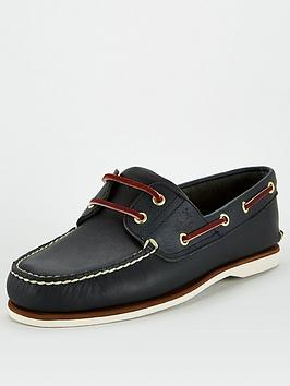 timberland-classic-2-eye-leather-boat-shoes-blue