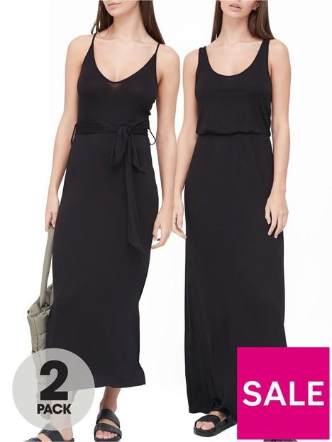 v-by-very-2-pack-midi-amp-maxi-dress-black