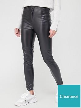 missguided-missguidednbspfaux-leather-biker-detail-trouser-black