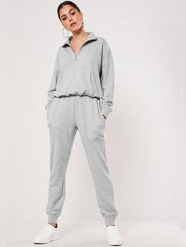 missguided-co-ord-zip-through-sweat-and-jogger-set-grey