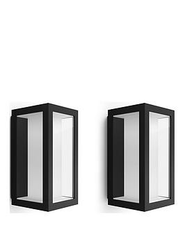 philips-hue-impress-slim-white-amp-colour-ambiance-led-smart-outdoor-wall-light-double-pack