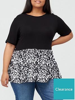 v-by-very-curve-peplum-hem-t-shirt-blackprint