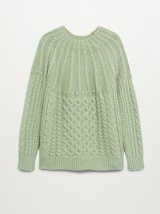 mango-cable-knit-jumper-light-green
