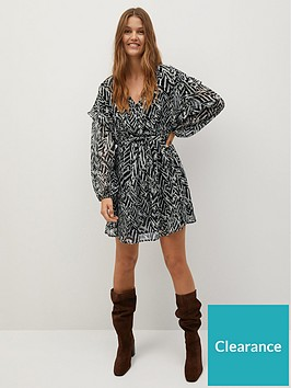 mango-ruffle-front-zebra-dress-khaki