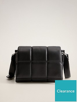 mango-quilted-cross-body-bag-black