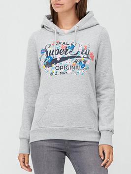 superdry-real-originals-floral-hoodie-grey