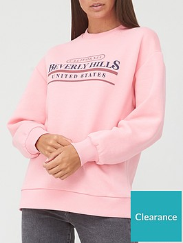 v-by-very-oversized-beverley-hills-sweat-top-pink