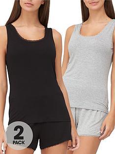 v-by-very-valuenbspmix-amp-matchnbsp2-pack-lace-trim-vests-multi