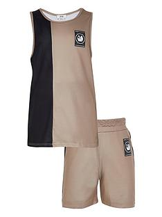 river-island-boys-blocked-vest-and-shorts-set--nbspstone