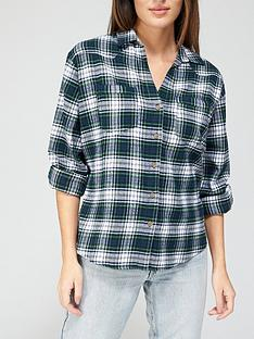 v-by-very-valuenbspcheck-flannel-casual-shirt-greennbspcheck