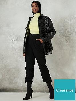 missguided-plain-cargo-trouser