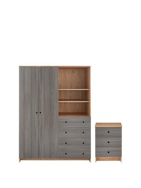 siena-2-piecenbsppackage--nbspnbsp2-door-4-drawer-wardrobenbsp-3-drawer-bedside-chest--nbspoakgrey