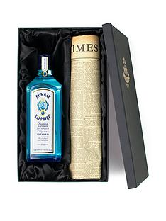 prod1089783832: Bombay Sapphire Gin and Original Newspaper Gift