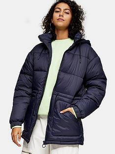 topshop-hannah-tie-padded-coat-navy