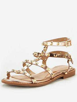missguided-missguided-dome-stud-gladiator-sandals-rose-gold