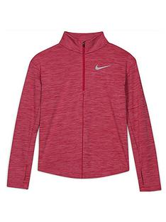 nike-girls-run-long-sleeve-half-zip-top-pink