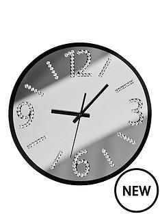 premier-housewares-wall-clock-with-diamantes