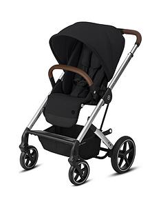 cybex-balios-s-lux-silver-frame-version-luxury-size-pushchair-deep-black