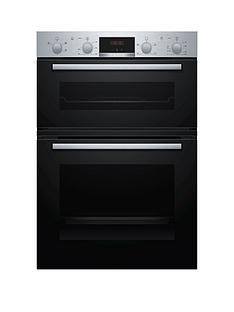 prod1089683623: MHA133BR0B Built In Double Oven - Stainless Steel and Black