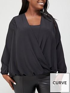 v-by-very-curve-cami-insert-wrap-blouse-black
