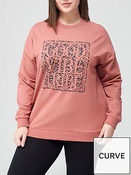 v-by-very-curve-animal-slogan-sweatshirt-pink