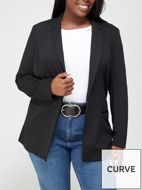 v-by-very-curve-stretch-longline-blazer-black