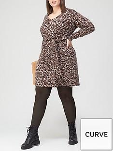 v-by-very-curve-soft-touch-snit-dress-animal-print