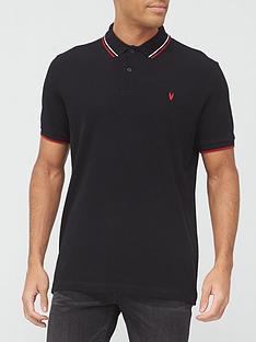 very-man-tippednbsppique-polo-top-black