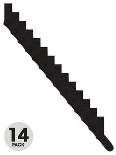 very-man-fresher-for-longer-14-pack-plain-socks-black
