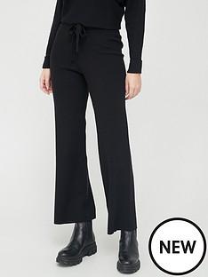 v-by-very-valuenbspwide-leg-side-panel-knittednbsptrousers-black