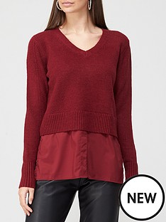 v-by-very-valuenbspacrylic-spandex-2-in-1-knittednbspjumper-red