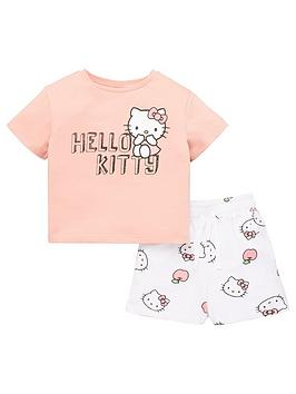 hello-kitty-girlsnbsp2-piece-t-shirt-and-jersey-short-set-multi