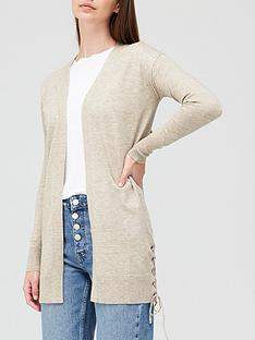 v-by-very-lace-up-knitted-cardigan-oatmeal