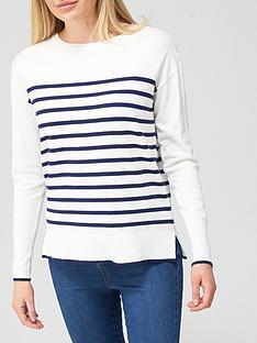 v-by-very-breton-stripe-crew-neck-jumper-ivory-navy
