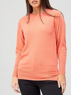 v-by-very-super-soft-deep-cuff-raglan-knitted-jumper-coral