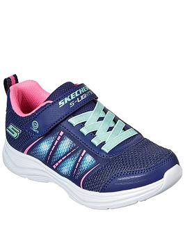 skechers-girlsnbspglimmer-kicks-shimmy-brights-trainer-navy