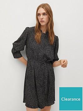 mango-polka-dot-shirt-mini-dress-black