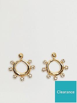 mango-diamante-circle-earrings-gold