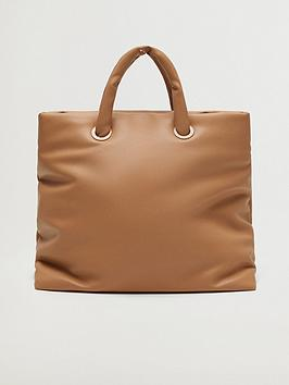 mango-fauxnbspleather-tote-bag-brown