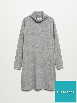 mango-basic-jersey-roll-neck-dress-grey