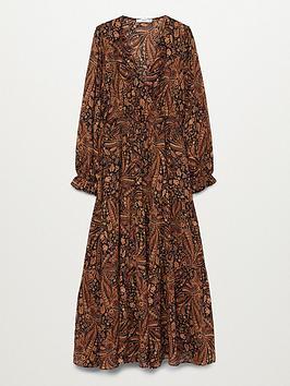 mango-paisley-print-midi-dress-brown