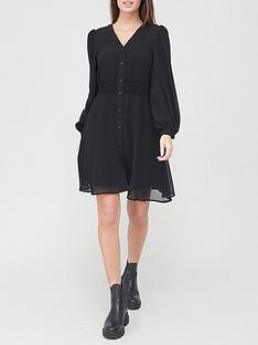 v-by-very-button-down-skater-dress-black