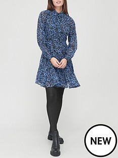 v-by-very-georgette-shirt-dress-blue-printnbsp