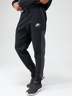 nike-air-contrast-fleece-joggers-blackgrey