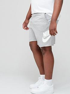 nike-plus-size-alumni-shorts-dark-grey