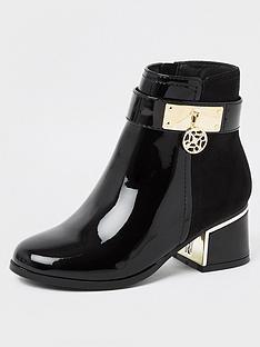 river-island-girls-patent-charm-ankle-boots--nbspblack