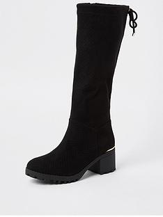 river-island-girls-embossed-snake-knee-high-boots-black