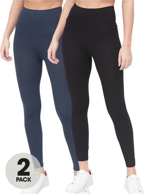 v-by-very-valuenbsp2-pack-high-waisted-leggings-blacknavy