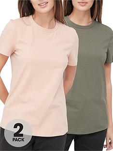 v-by-very-valuenbsp2-pack-crew-neck-t-shirt-khakinude