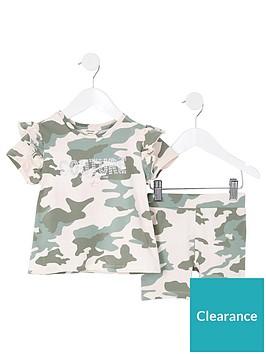river-island-mini-girls-camo-t-shirt-and-cycling-short-set-greennbsp
